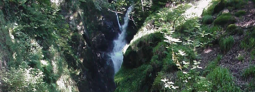 Photo of waterfall, Lake District, 2000