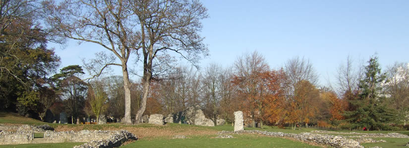 Photo of Abbey Gardens ruins, Bury St Edmunds, Suffolk 2007