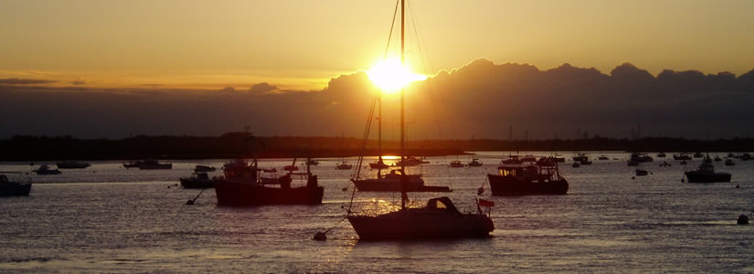 Photo of sunset from Bawdsey, Suffolk, 2007