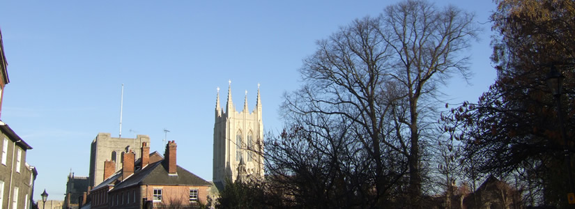 Photo of Cathedral new tower, Bury St Edmunds, Suffolk 2007